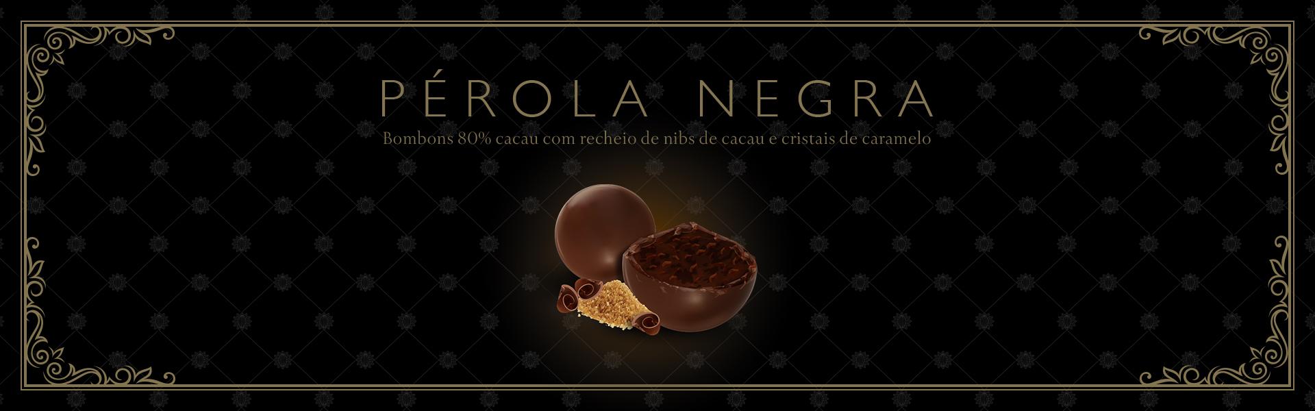 bombom de chocolate e nibs de cacau - pérola negra