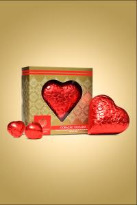 caixa de chocolate coração trufado