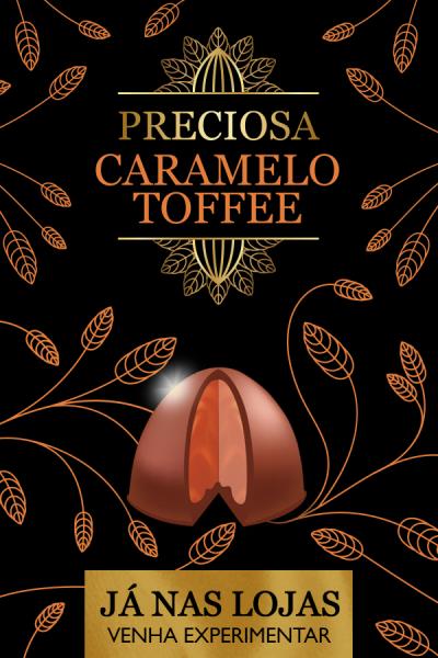 trufa de caramelo toffee - preciosa