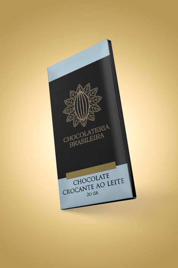 barra de chocolate ao leite crocante