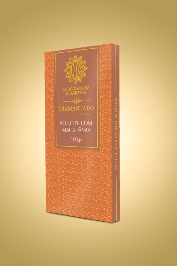 chocolate ao leite com macadâmia - Chocolateria Brasileira