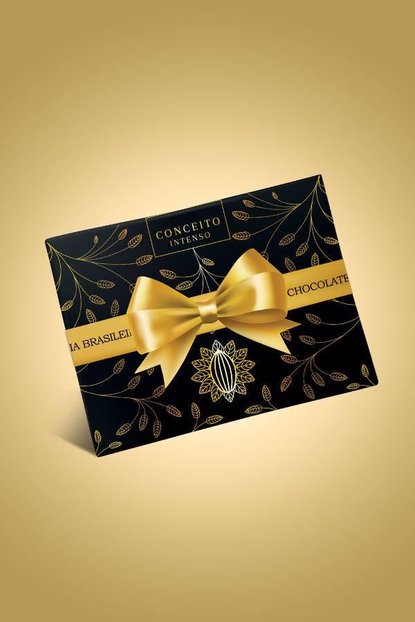 caixa de chocolate conceito intenso - Chocolateria Brasileira
