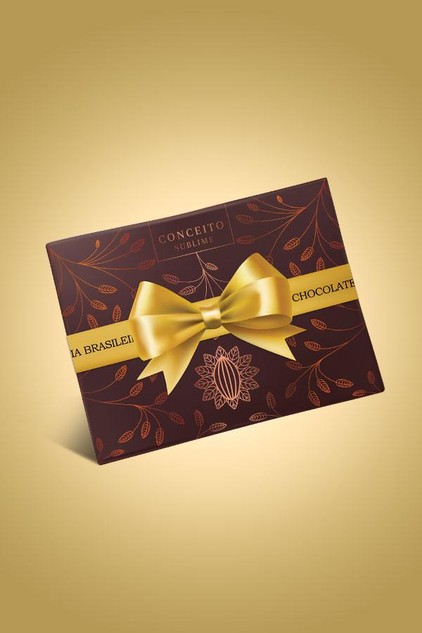 caixa conceito sublime de chocolate - Chocolateria Brasileira