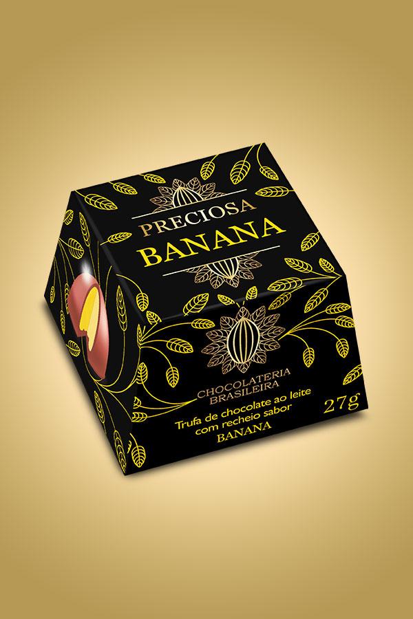 Trufa de banana - Chocolateria Brasileira