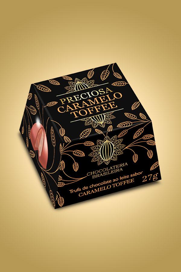 Trufa de caramelo toffee - Chocolateria Brasileira
