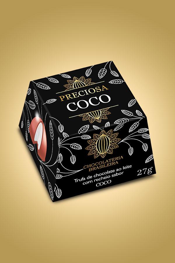 Trufa de coco - Chocolateria Brasileira