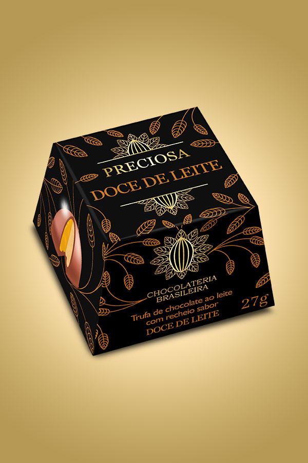 Trufa de doce de leite - Chocolateria Brasileira