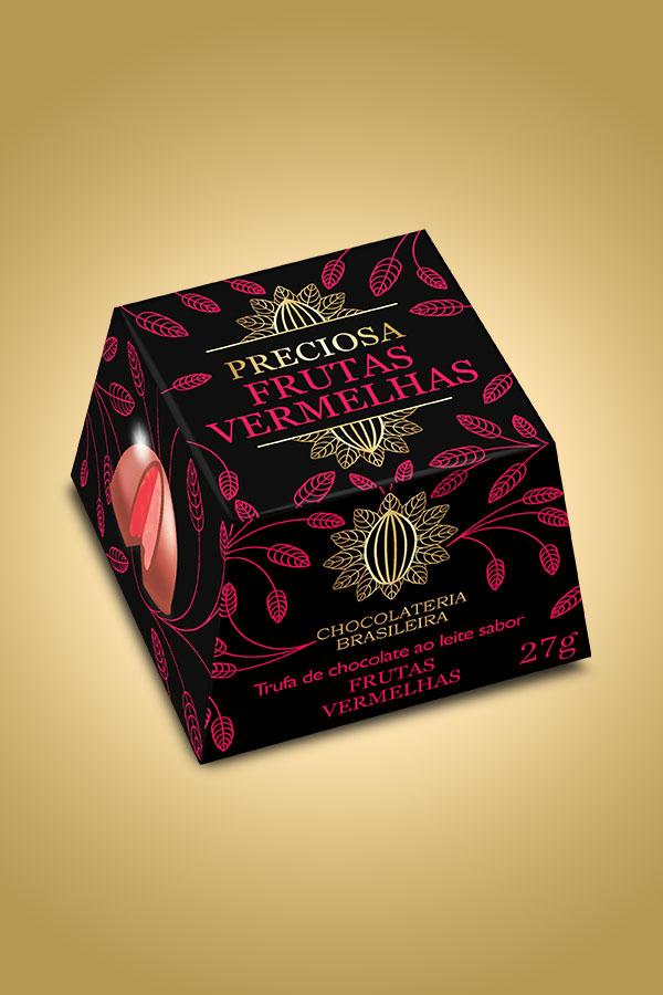 Trufa de frutas vermelhas - Chocolateria Brasileira