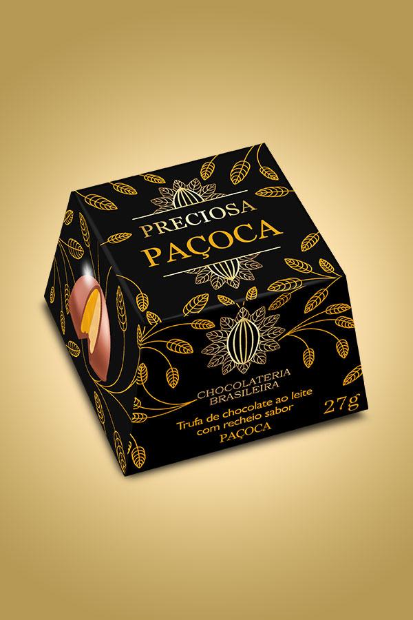 Trufa de paçoca - Chocolateria Brasileira