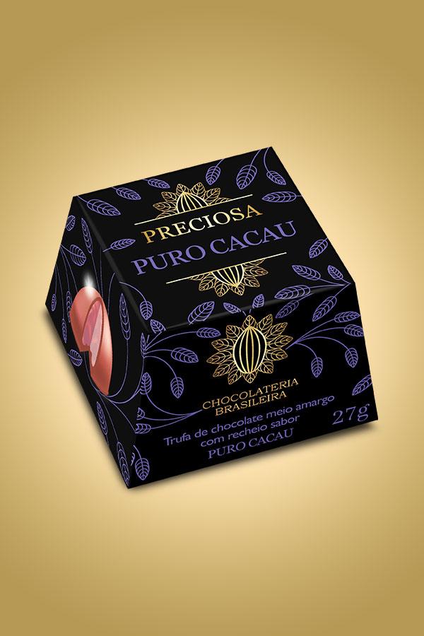 Trufa de chocolate puro cacau - Chocolateria Brasileira