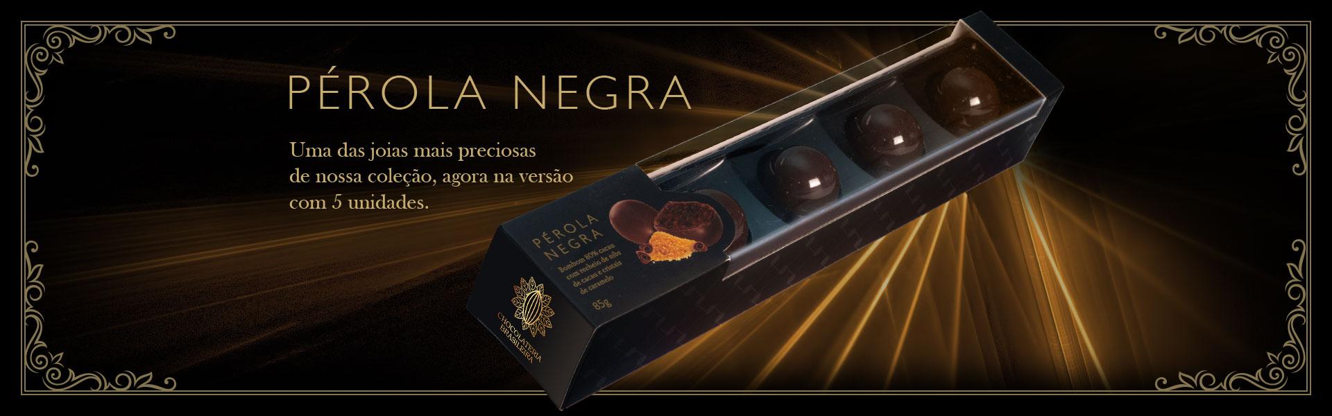 slider caixa de bombom pérola negra - Chocolateria Brasileira