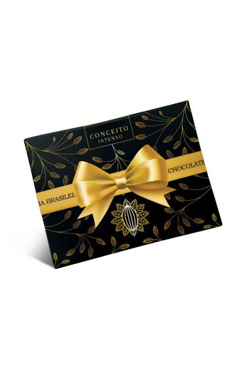caixa de bombom de chocolate conceito intenso