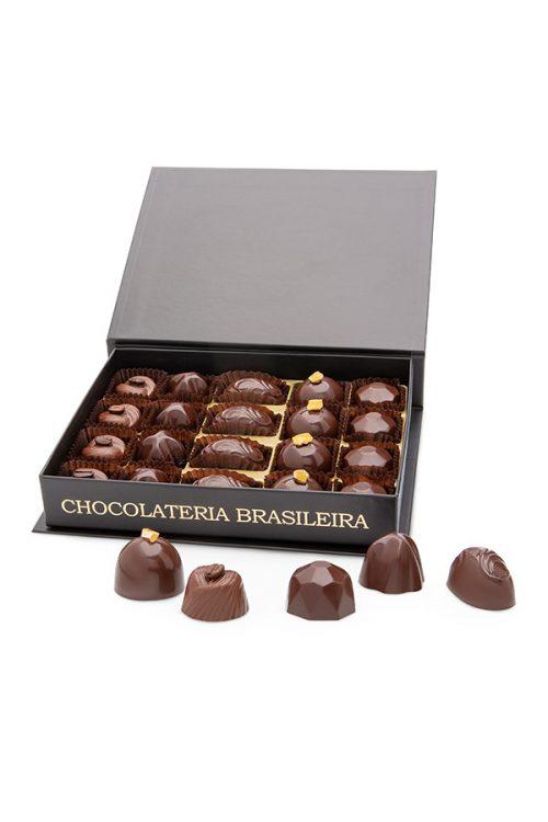 caixa de bombons de chocolater conceito intenso - chocolateria brasileira