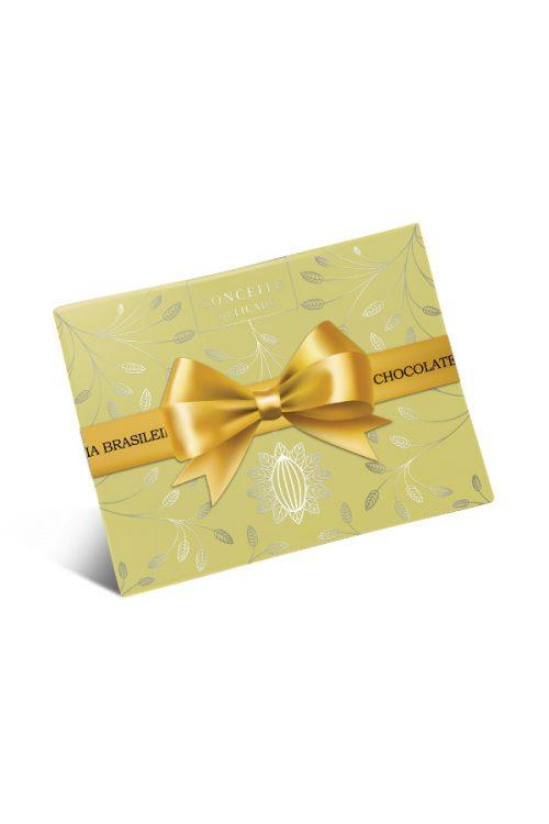 caixa de bombom de chocolate conceito suave