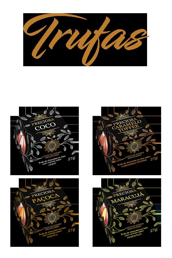 trufas de chocolate - chocolateria brasileira