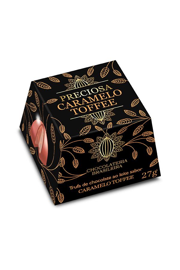 trufa de chocolate com caramelo toffee