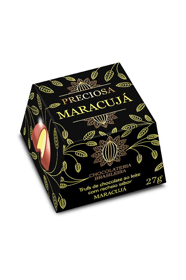 trufa de chocolate recheio de maracujá - chocolateria brasileira