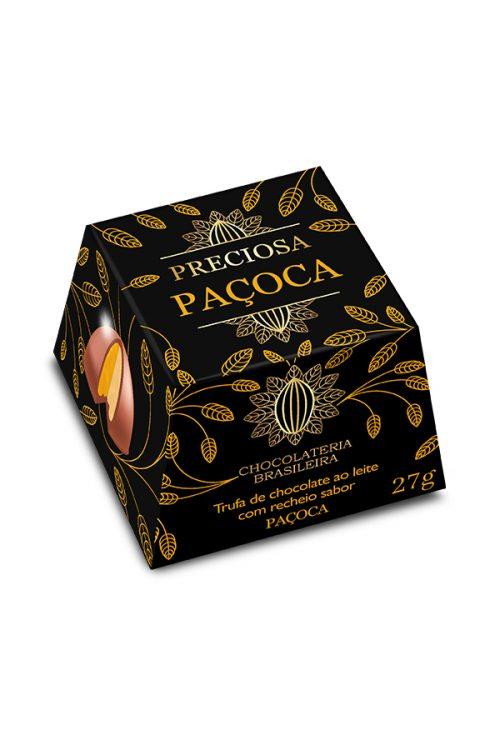 trufa de chocolate recheada de paçoca - chocolateria brasileira