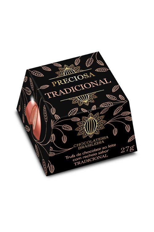 trufa tradicional de chocolate - chocolateria brasileira