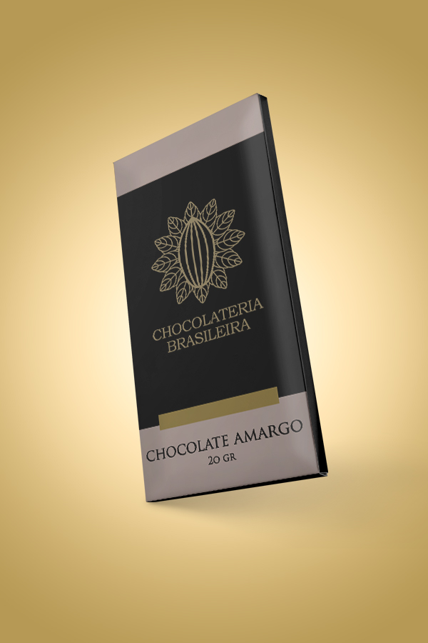 barra de chocolate amargo