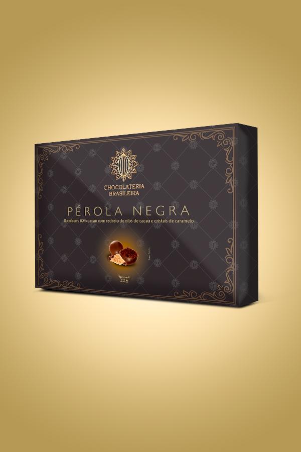 caixa de chocolate pérola negra - Chocolateria Brasileira