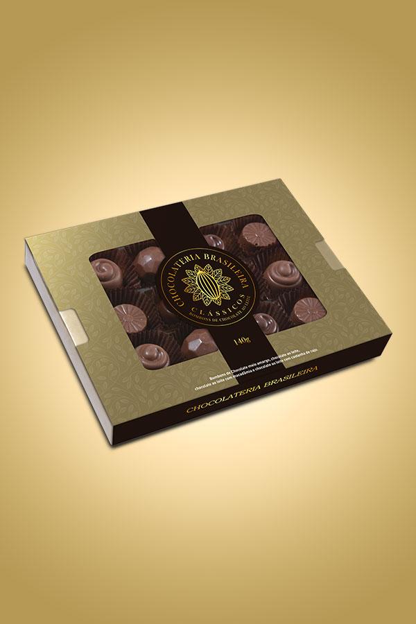Bombons de chocolate clássicos - Chocolateria Brasileira