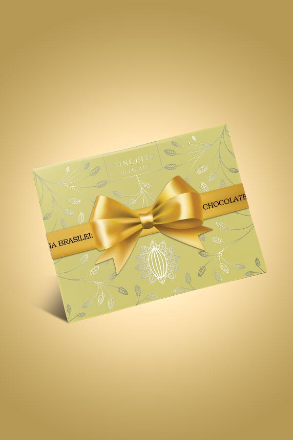 caixa conceito de chocolate suave - Chocolateria Brasileira